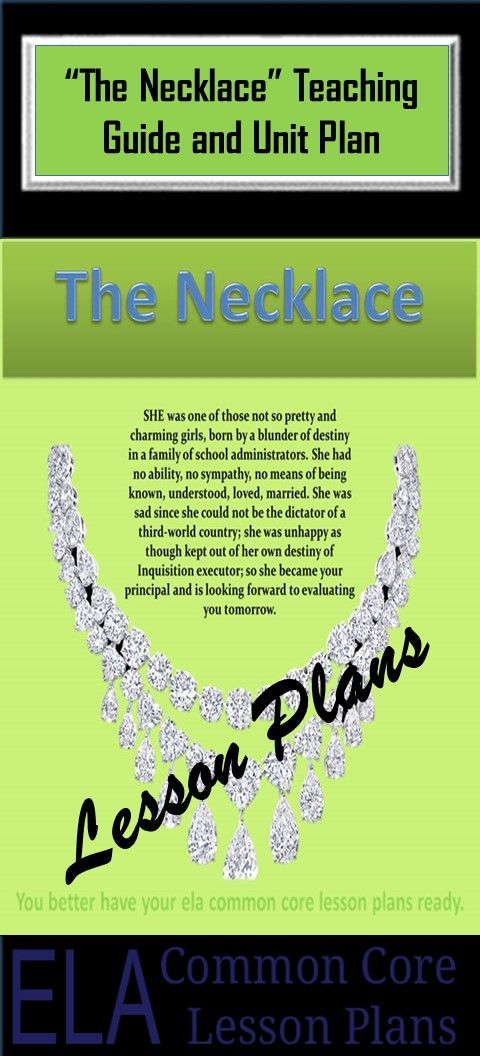 lesson behind the the necklace