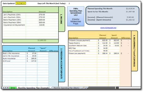 Really neat FREE downloadable spreadsheet to track expenses   - Download Budget Spreadsheet