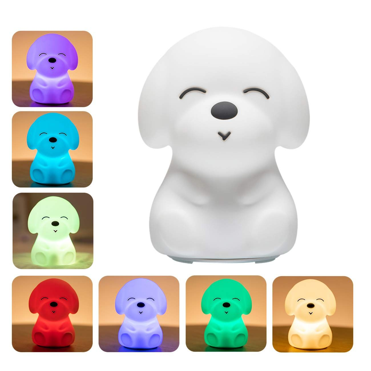 Night Lights For Kids Mubarek Nightlights For Children Cute Dog Animals Nursery Siliconetimer Toddler Lam In 2020 Cute Night Lights Animal Night Light Led Night Light