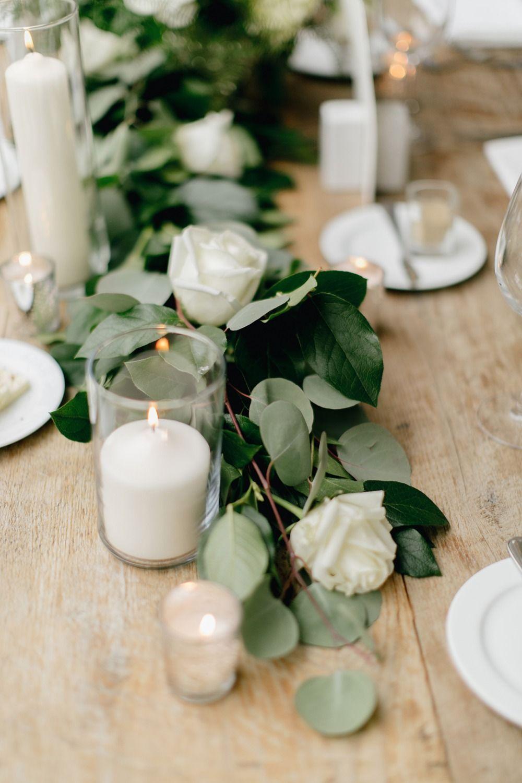 Natural White Grey And Green Wedding Weddings Flower Arrangements