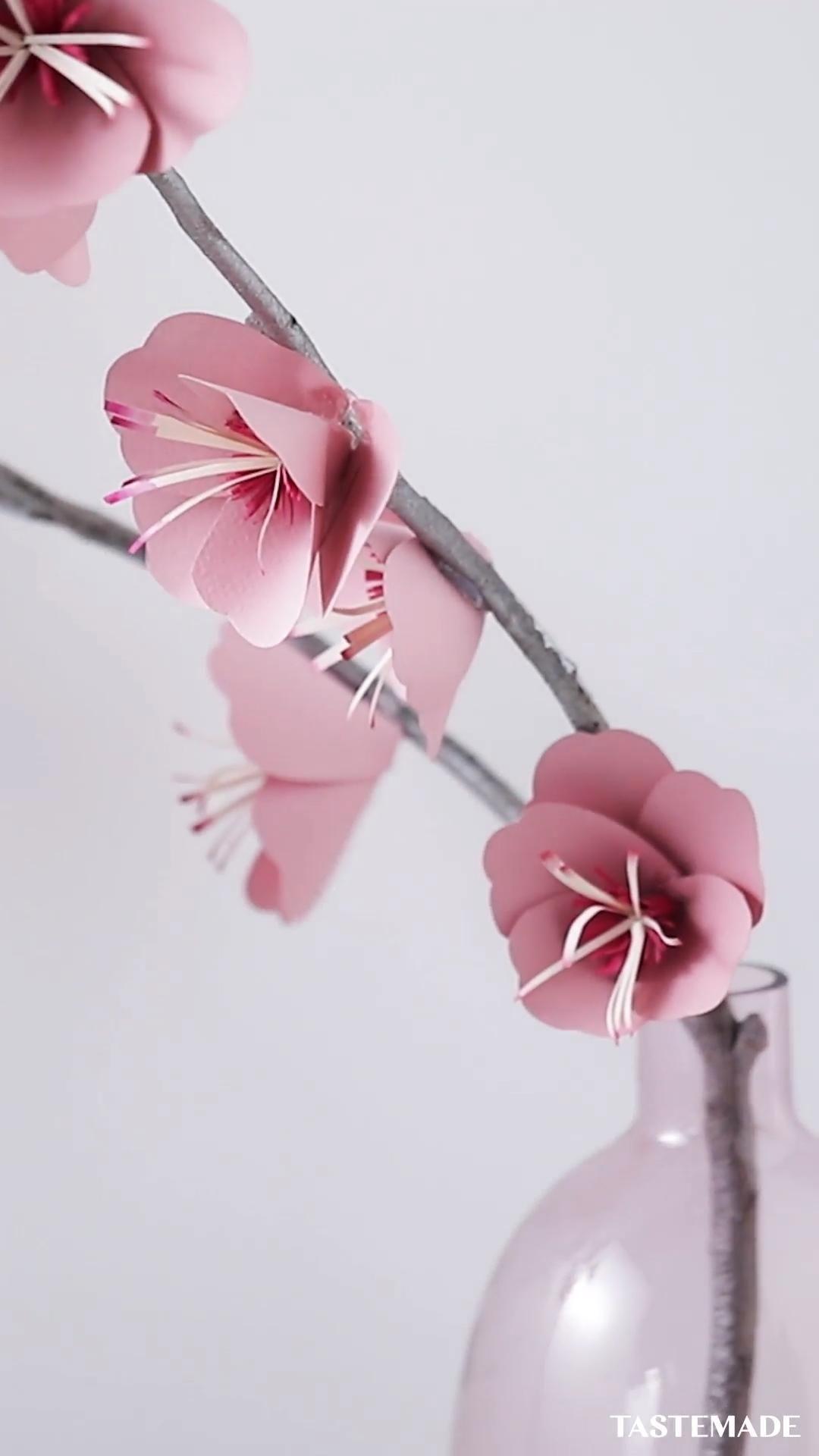 Paper Cherry Blossom Branch
