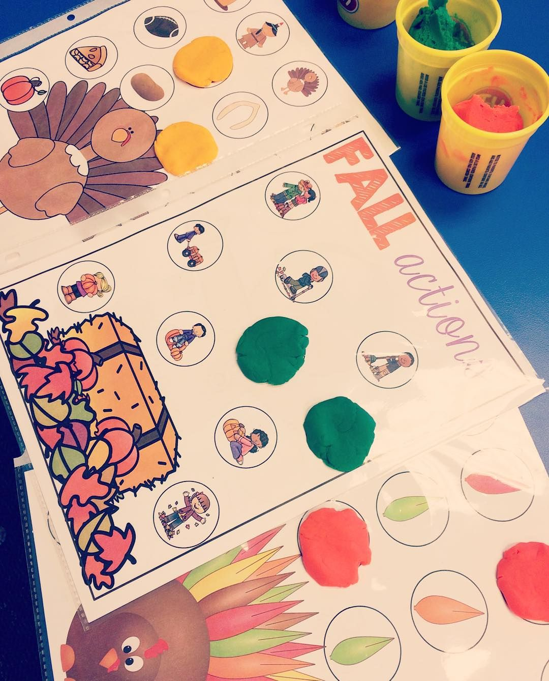 Fall And Thanksgiving Playdough And Dot Marker Activities
