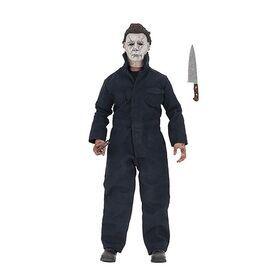 The newest Michael Myers joins NECA's clothed action figure line! Based on his appearance in the thrilling new Halloween movie, Michael stands 8-inches tall, is fully articulated and includes knife and hammer accessories. Comes in window box packaging.