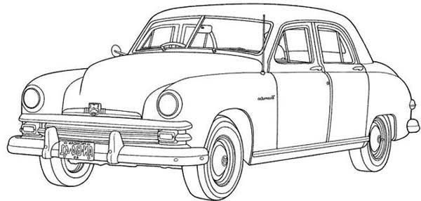 An Expensive Old Car Coloring Page An Expensive Old Car Coloring