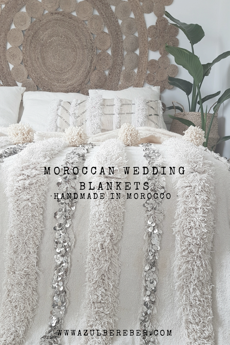 Moroccan Wedding Blanket Style Decoration Vintage And Jungalow Handira Bed Cover Boho Bohemian Bedroom Chic
