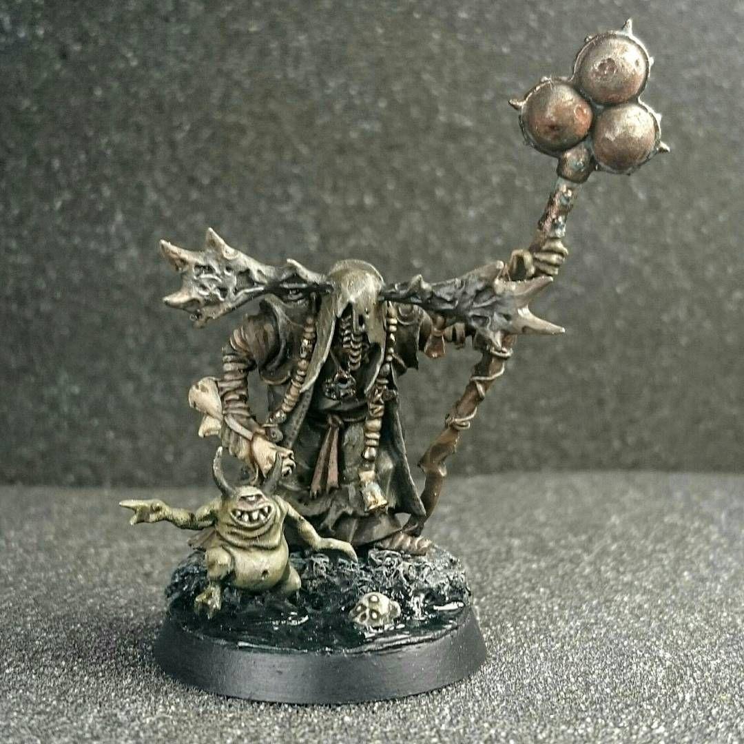 Nurgle Rotbringer Sorcerer  The conversion was made some