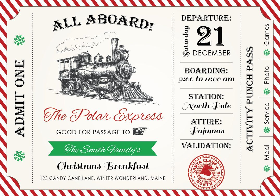 ALL ABOARD! Invite your friends and family to a Polar Express