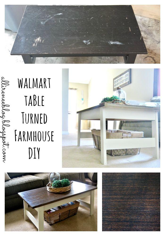 Walmart Table Turned Farmhouse Inspried DIY Rustic