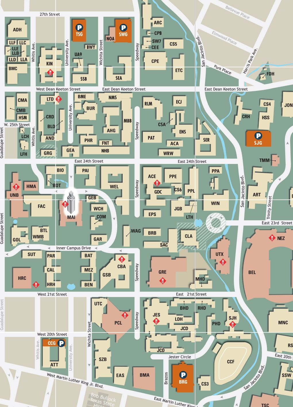 Current Ut Campus Map History Campus Map Map Floor Plans