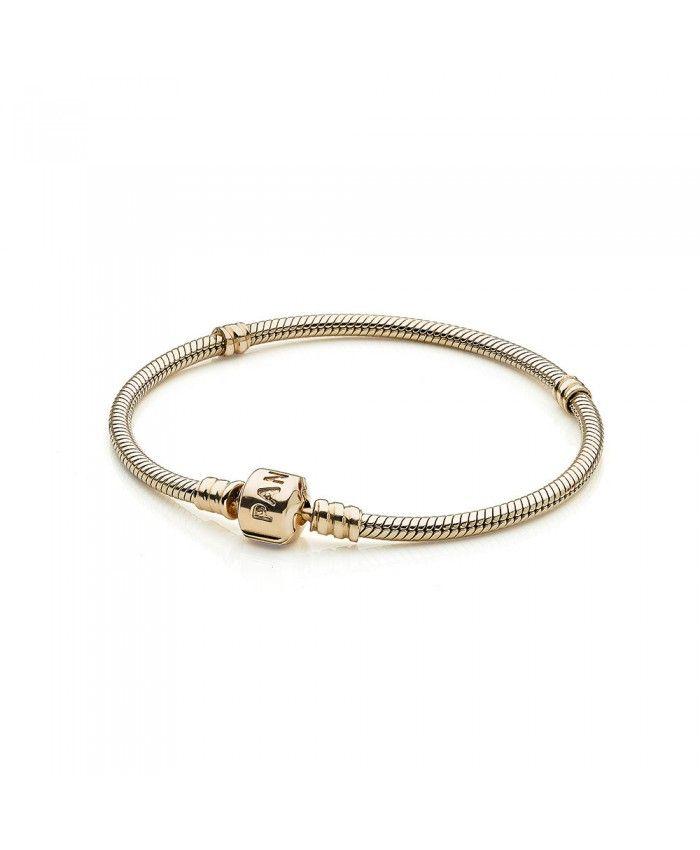 14643b235 Pandora 14K Gold Charm Bracelet 550702   Pandora bracelets in 2019 ...