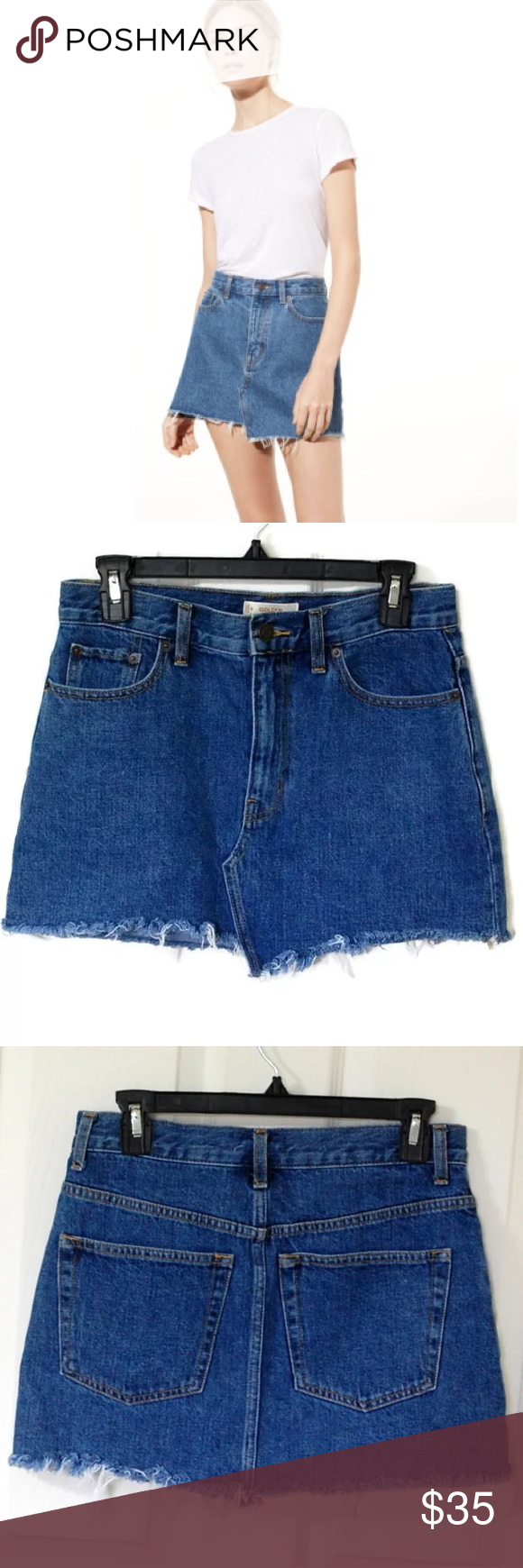 9c6b23152 Golden by TNA Aritzia Testani Denim Skirt Golden by TNA Testani Skirt  Color: Blue Size: 6 Gently used condition. No stains or tears.