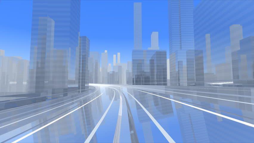 City Skyline. - HD stock footage clip