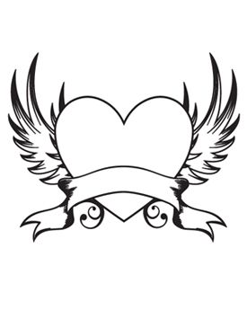 heart with wings - Google Search | Drawings, Wings drawing, Heart ...