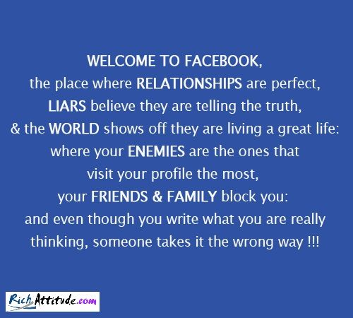 facebook relationships vs life relationships An internet relationship is a relationship between people who have met online, and in many cases know each other only via the internet online relationships are similar in many ways to pen pal relationships.