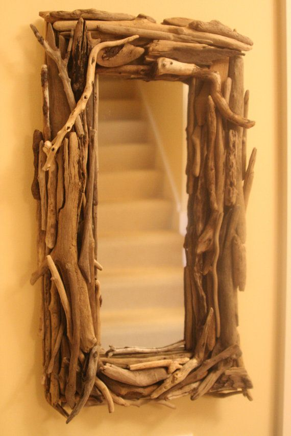 Rectangular Lake Michigan Driftwood Framed Mirror | Cuadro, Marcos y ...