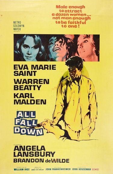 All fall down Warren Beatty vintage movie poster print