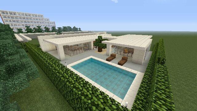 マイクラps4 街を作る31 塀とプール マイクラ 建築 マインクラフト