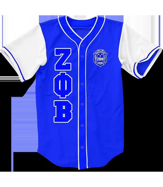 Zeta Phi Beta Embroidered Greek Baseball Jersey Zeta Phi Beta Greek Clothing Zeta