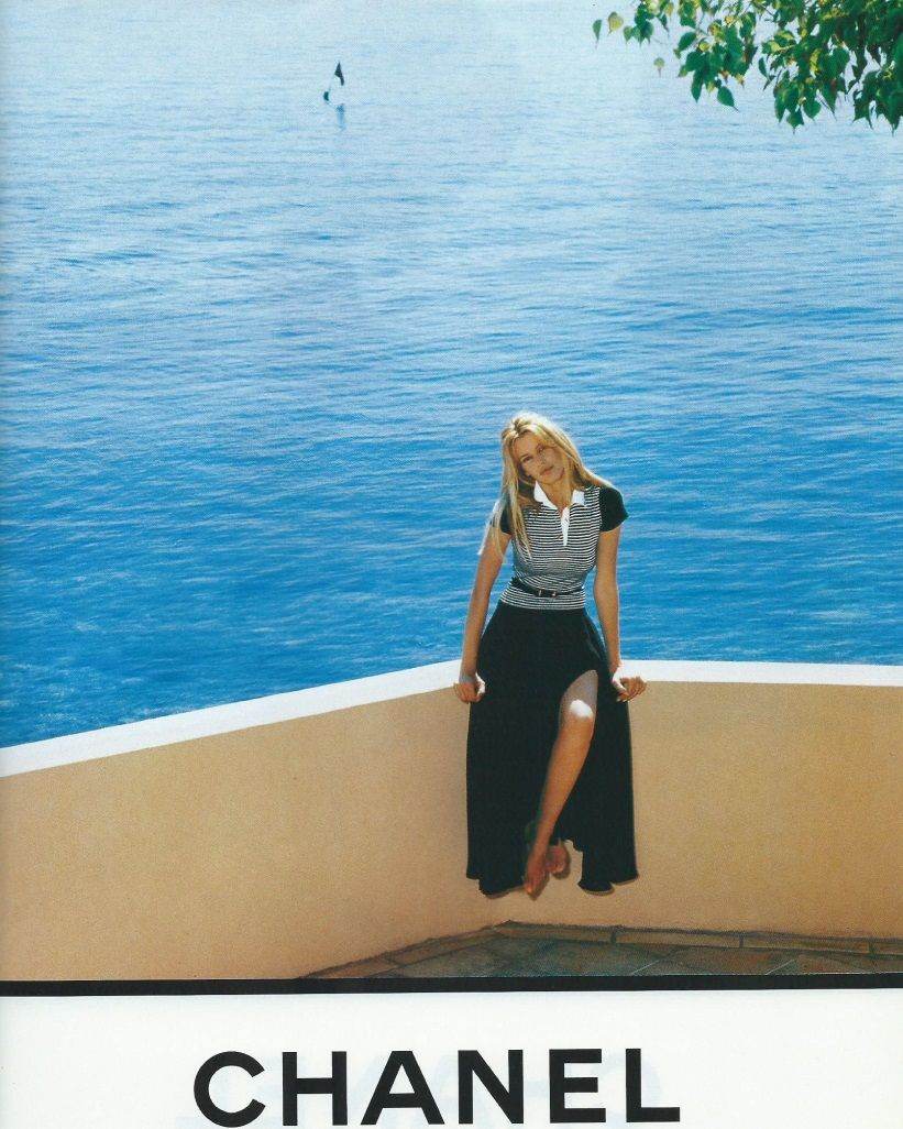 Chanel Spring/Summer 1993 Campaign | Claudia Schiffer photographed by Karl…