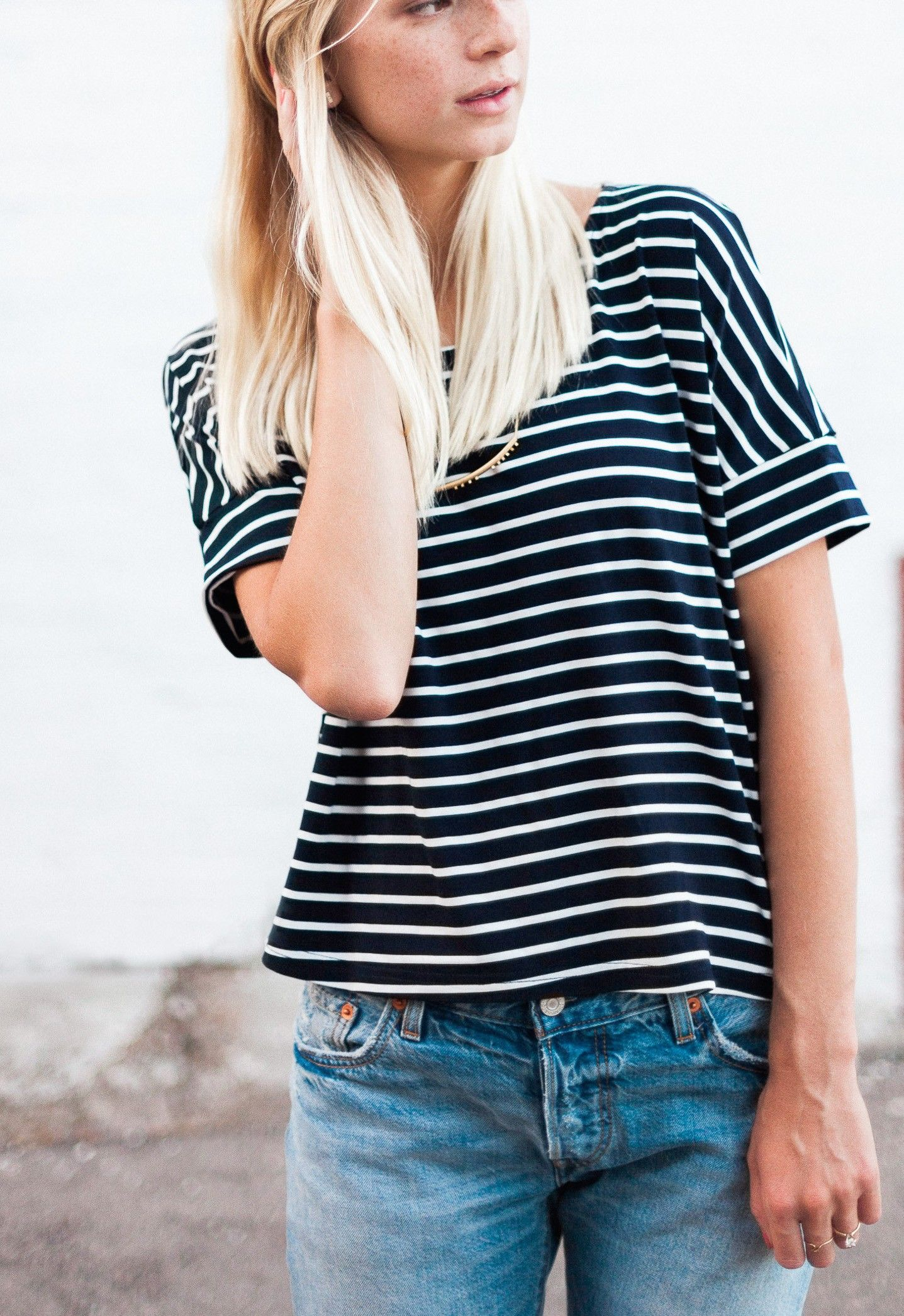 I can't get enough of tomboy style. | striped top by Choies