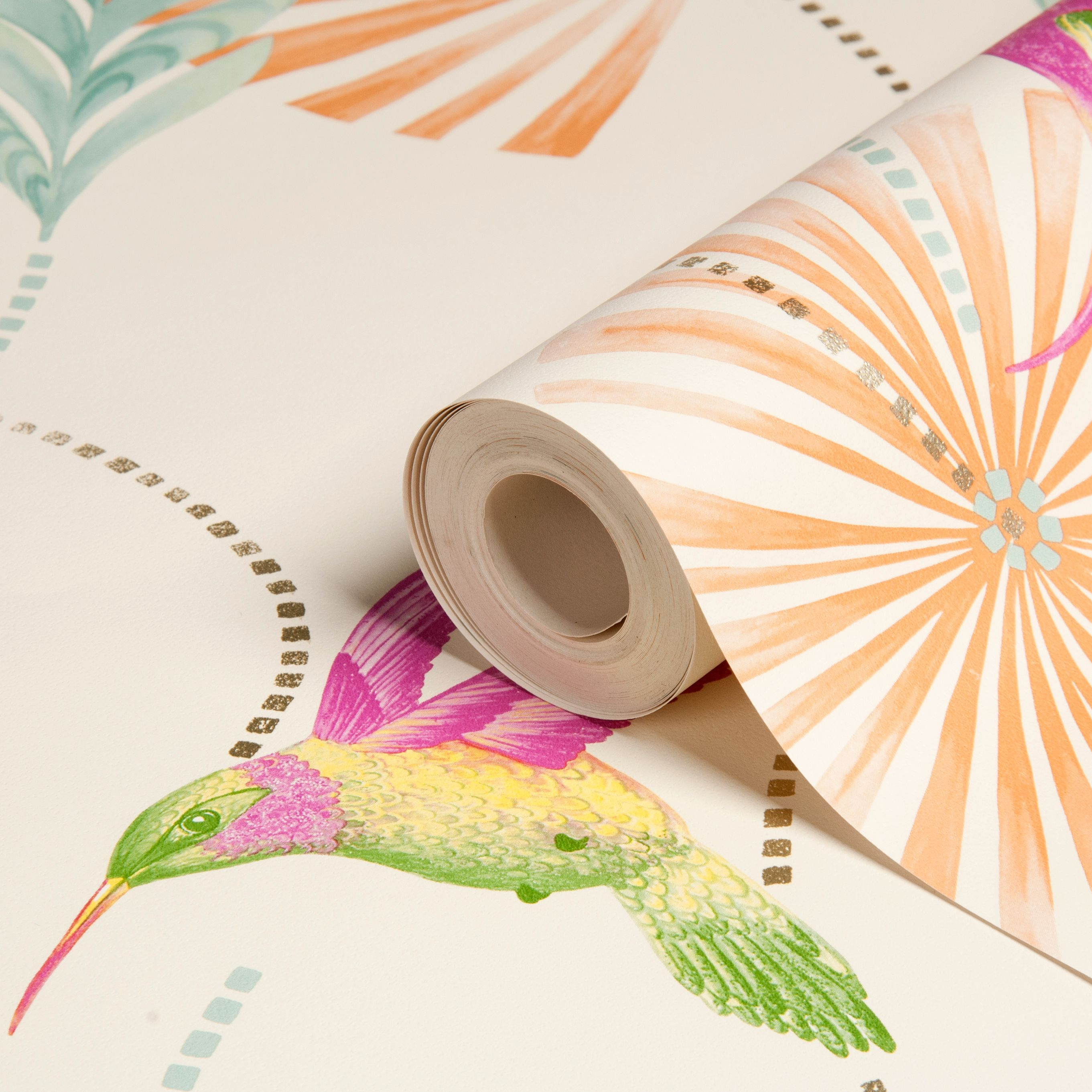 Humming Bird Floral Wallpaper Departments DIY at B&Q