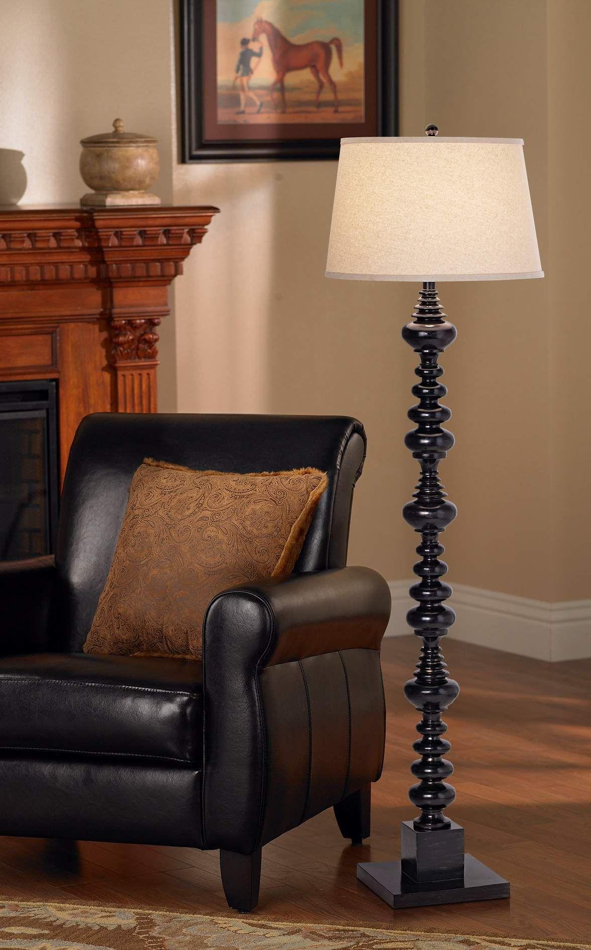 Kathy ireland essentials 61 14 high spiral floor lamp
