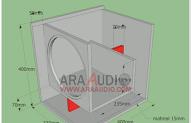 Skema Box Subwoofer 10 Inch Desain Speaker Penyimpanan