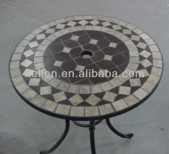 tile patio table round table top