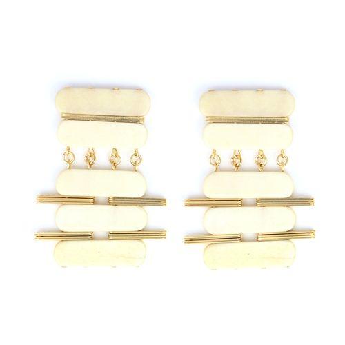 Sylvia Benson Winston Earring in Bone Available at Splurge.  704.370.0082