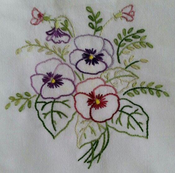 Embroidered dish towel bordados pinterest bordado