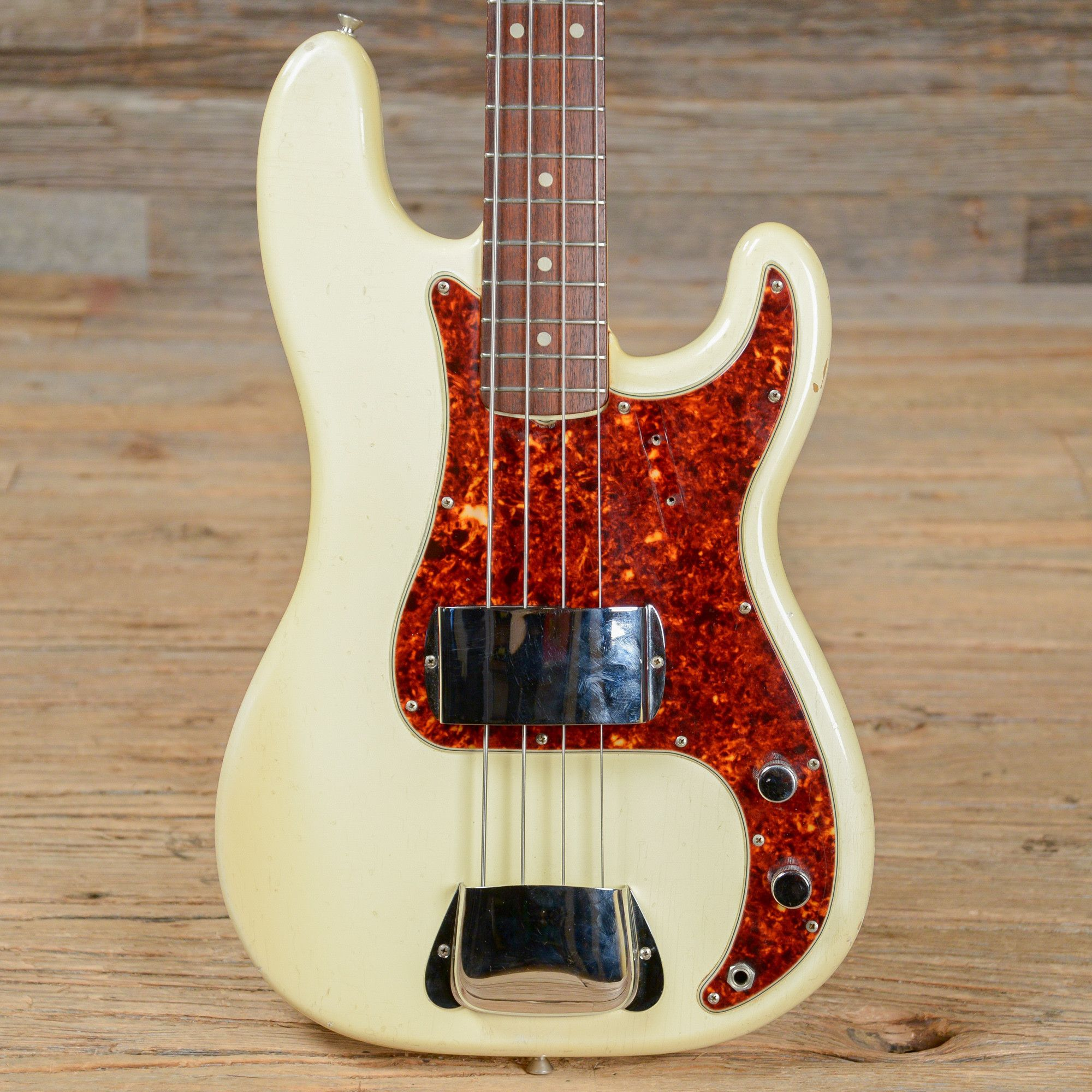 Fender Precision Bass Olympic White 1965 S703 Guitars Gibson Les Paul Wiring Diagram Besides Epiphone Jr