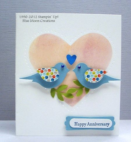 Bird Builder Love Birds Less Is More Anniversary Challenge Cards Handmade Valentines Cards Creative Cards