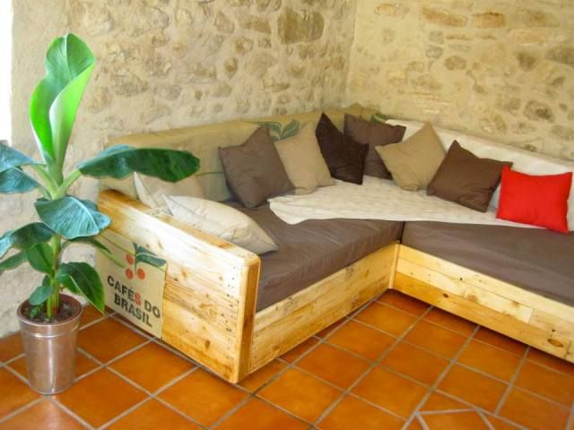 Tutorial For Pallet Sectional Sofa Couch Diy