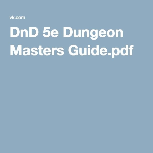Dnd 5e Dungeon Masters Guide Pdf Rpg In 2019 Pinterest Dungeon