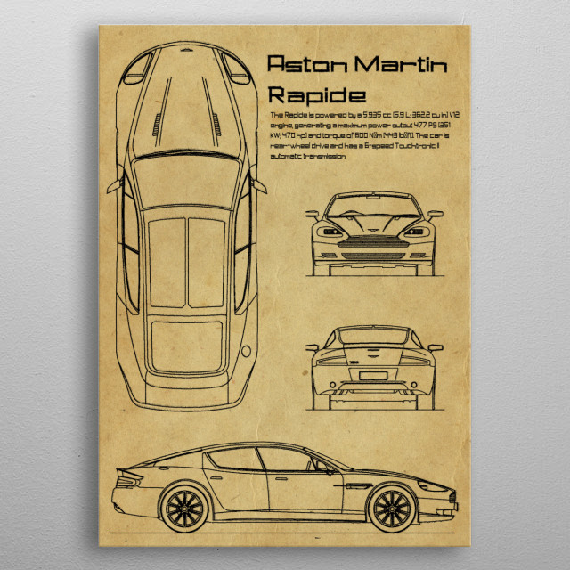 Aston Martin Rapide by FARKI15 DESIGN | metal posters - Displate | Displate thumbnail