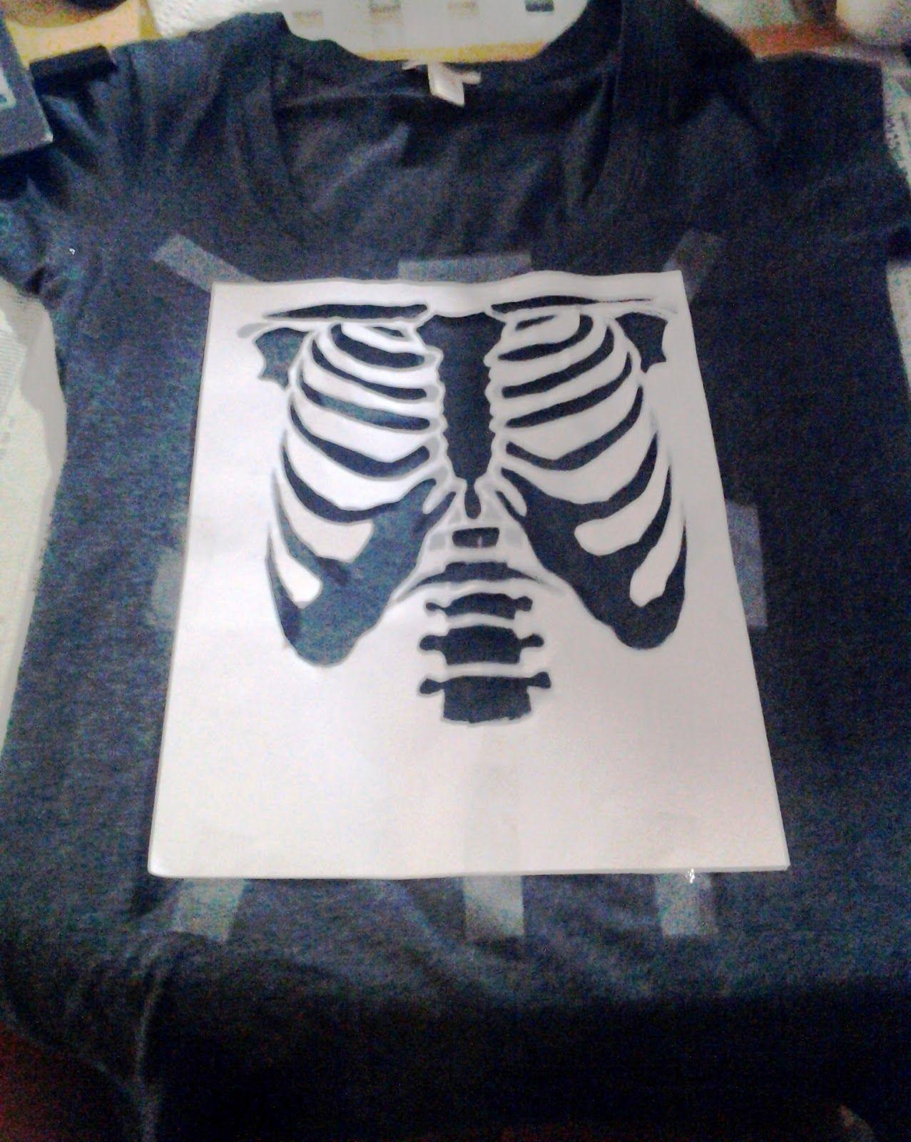 Spray Paint T Shirt Craft Using A Stencil To Create A Design