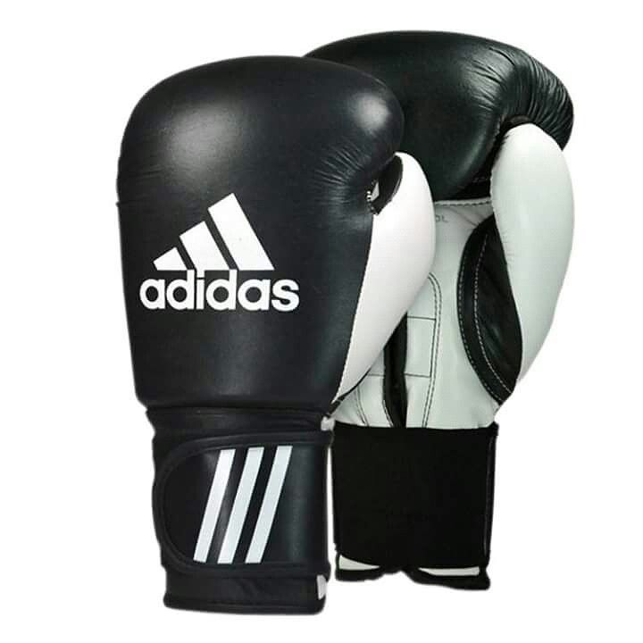 Adidas Leather Boxing Gloves Black Performer