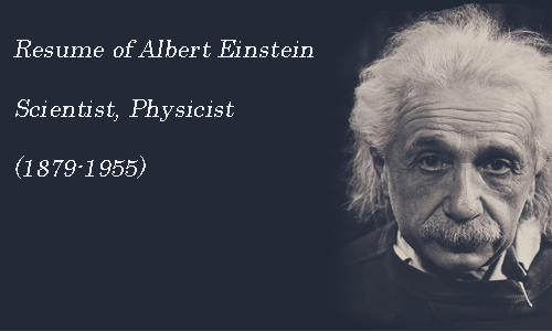 albert einstein resume of albert einstein scientist