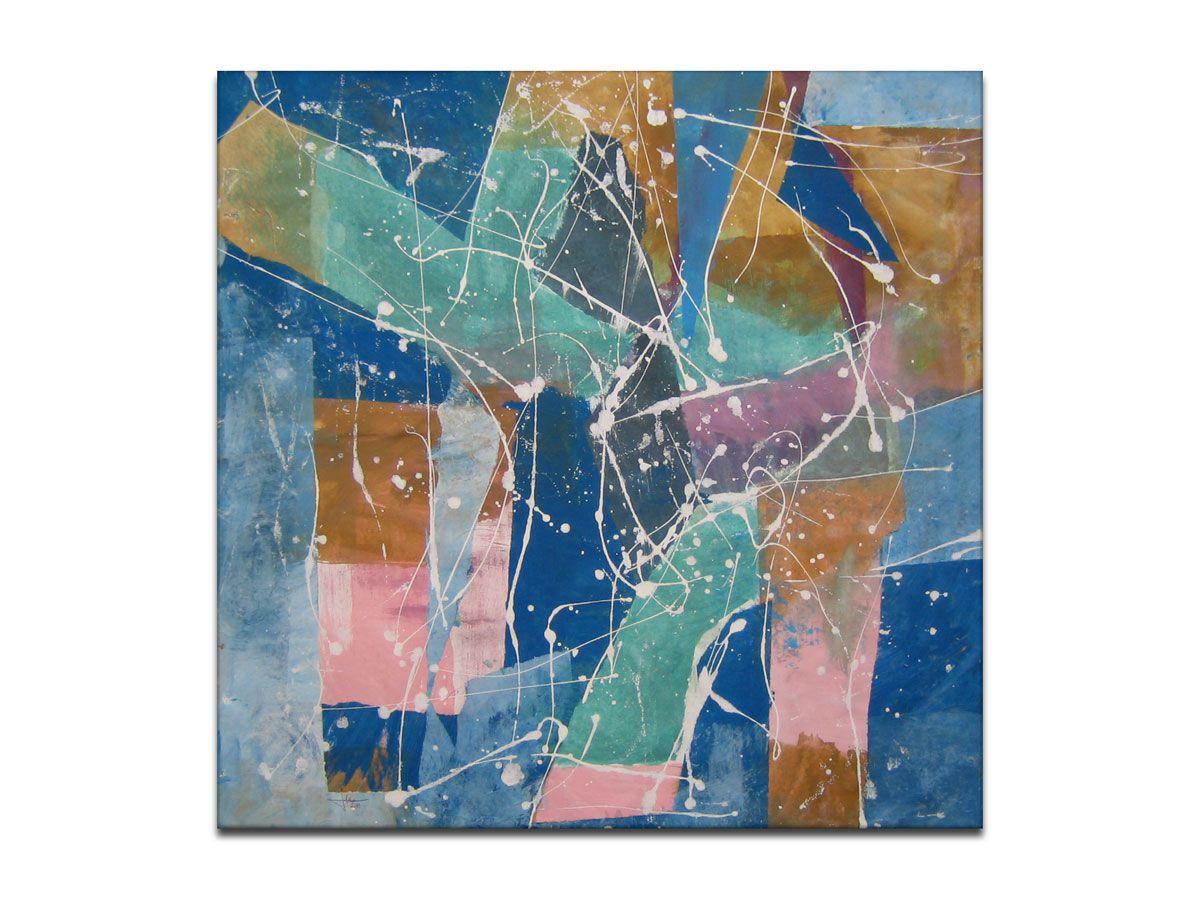 Prodaja Slika Apstraktna Slika Njezna Kompozicija Akril Na Platnu Bez Letvica 70x70 Cm Autor G Lebinac Slika Prodana Kupcu U Artwork Painting Abstract