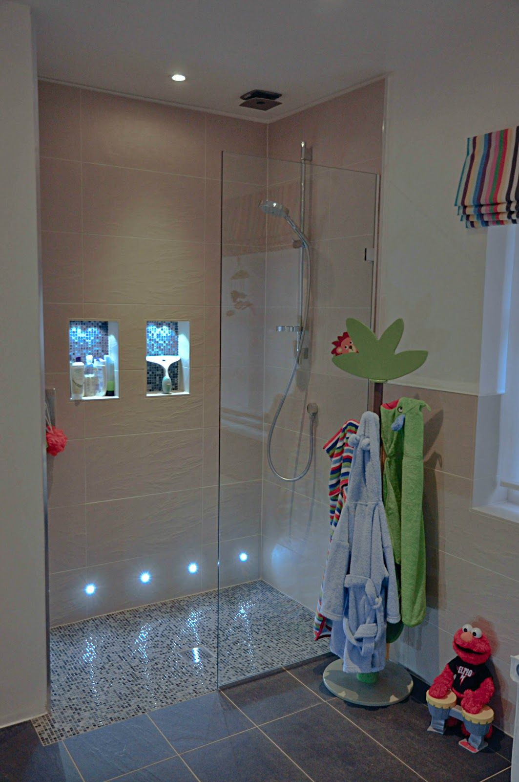 walk in shower lighting. Walk In Shower For Family Bathroom. APS Screen, By Cifial. No Step Shower; Door Opens To Shower. Lighting S