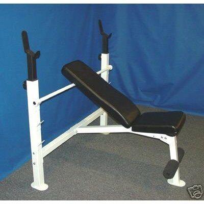 bench olympic bench press w/white frame weld www