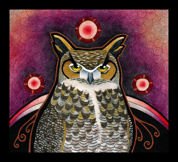 Owl Totem Tegne Ider Pinterest Horned Owl Totems And Owl
