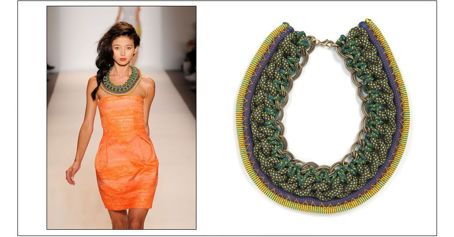 talia necklace / climbing rope with plated chain