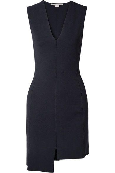 8d5f931f619 Stella McCartney - Asymmetric Stretch-knit Mini Dress - Black ...
