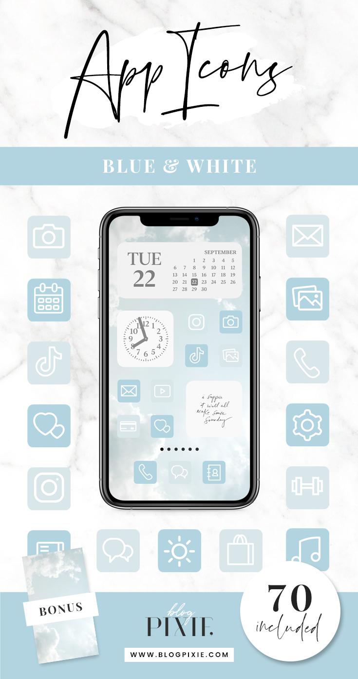 App Icons Aesthetic Blue IOS 14