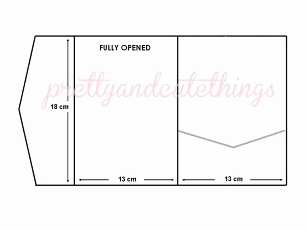 Pocket Fold Wedding Invitation Template Luxury Pocketfold