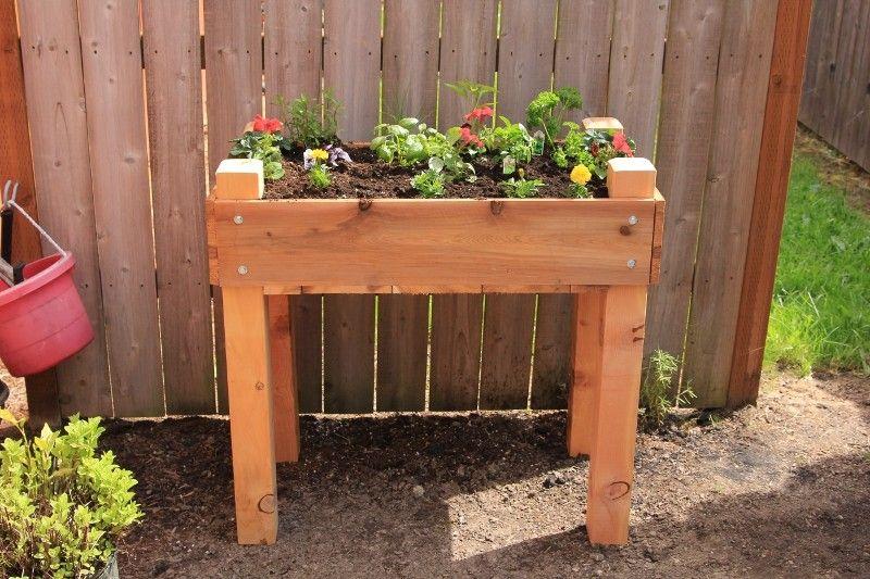 Cedar Raised Bed on Legs Gardening Outdoor Raised garden