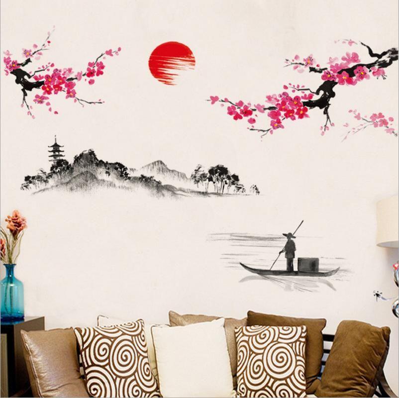 Sakura Pink Cherry Blossom Tree Decor Wall Sticker Decor Unscandy Tree Wall Decor Cherry Blossom Decor Japanese Wall