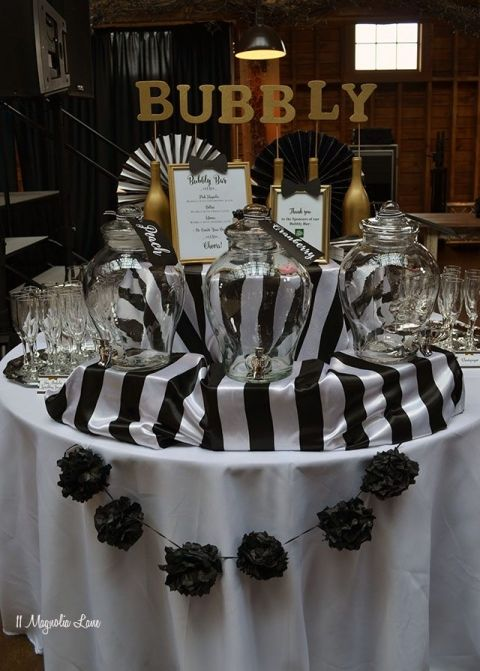 Black And White Bowtie Ball Black Gold Party 50th