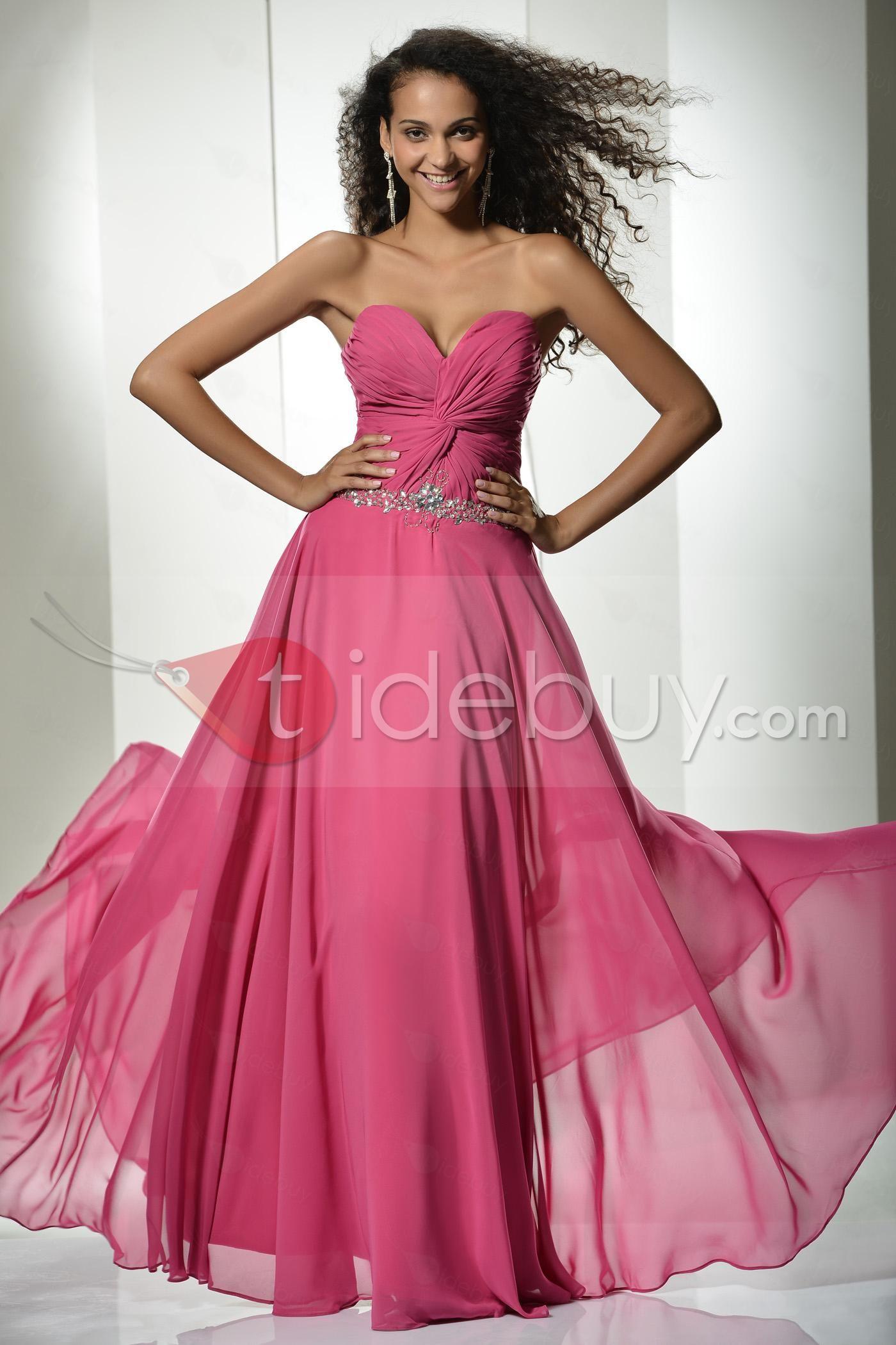 Brillante Vestido de Prom/Noche Cintura Imperio Silueta Línea A ...